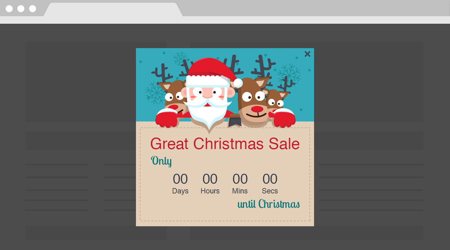 artificial scarcity creates real demand - Christmas Eve Sales