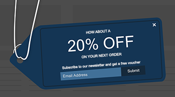 Increase e-commerce email newsletter subscription